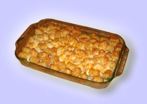 THE Tater Tot Hotdish, the gold standard of hotdishes